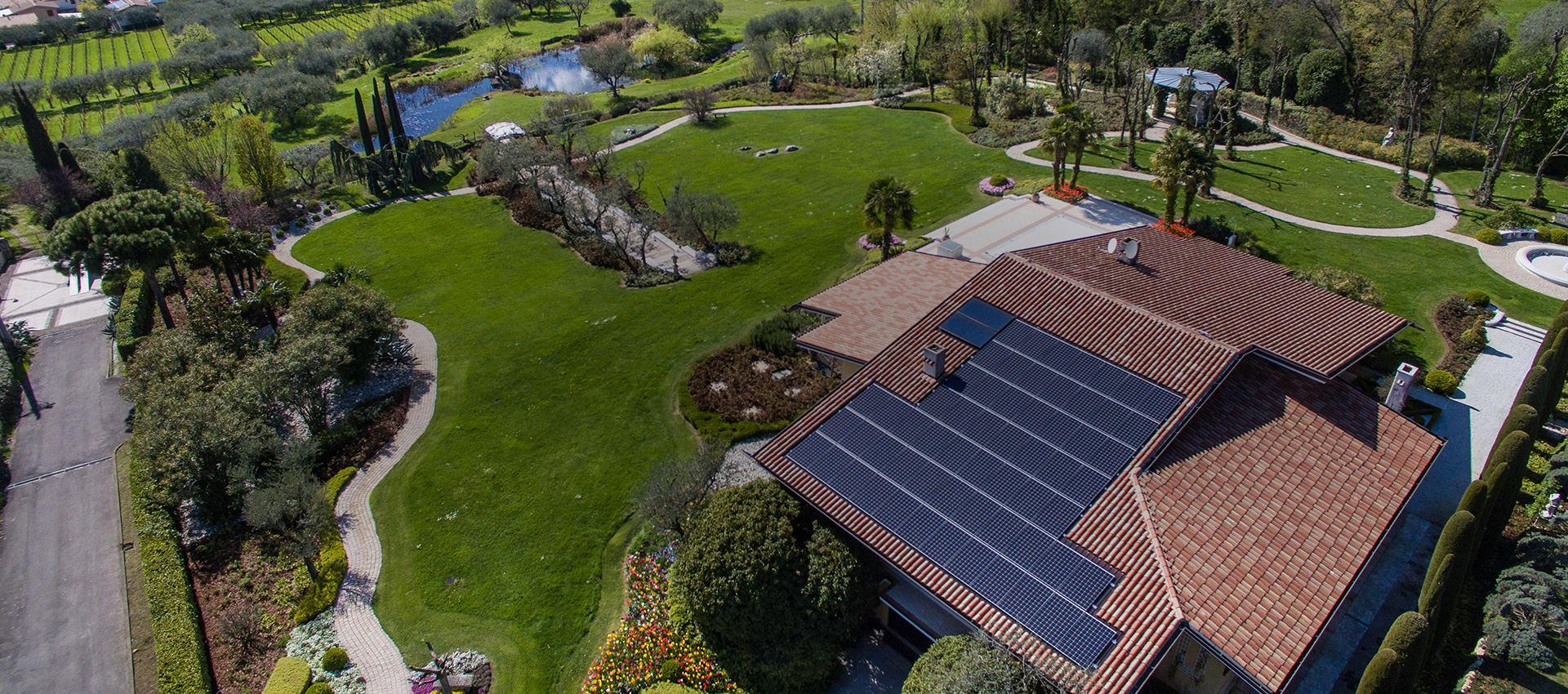 pannelli fotovoltaici su edifici privati